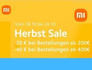 Xiaomi Herbst Sale - zB. Mi TV P1 55'' für 509€ (mit Gutschein 459€ möglich)
