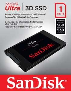 """SanDisk Ultra 3D SSD 1TB (2.5"""", SATA, 3D-NAND TLC, 560MB/s Lesen & 530MB/s Schreiben, 400 TBW, 5J Garantie)"""