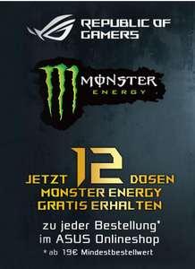 12 Dosen Monster Energy Gratis zu jeder Bestellung ab 19€ im ASUS Online Shop Versandkostenfrei ab 20€