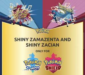 Shiny Zacian/Shiny Zamazenta für Pokemon Schwert und Schild Gratis