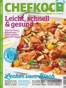 Zeitschrift Chefkoch im Prämienabo für 38,40 € mit 30 € Amazon / Ikea / Jet Prämie als Geschenk
