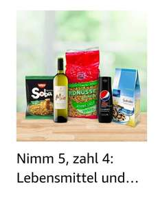 Nimm 5, zahl 4 Aktion bei Amazon - Kategorie Lebensmittel