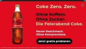 [Couponplatz] Coca Cola Zero Koffeinfrei 1 Flasche (0,5 oder 1,0 oder 1,5 Liter) gratis via Ausdruckcoupon bei Edeka, Marktkauf oder Multi