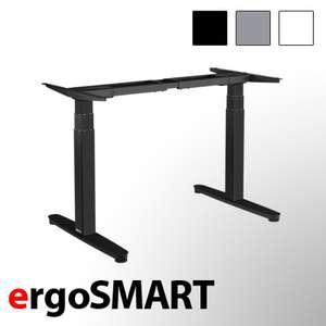 exeta ergoSMART Sitz-Steh-Schreibtisch (höhenverstellbarer Schreibtisch, dreistufig, zwei Motoren)