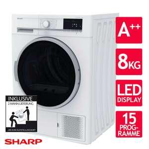 [eBay] Sharp Wärmepumpentrockner GHB8S7GW2-D A++ 8kg 15 Programme Trommelbeleuchtung LED-Display
