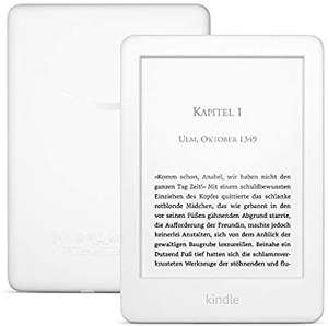 Kindle, jetzt mit integriertem Frontlicht – mit Werbung – Weiß [Amazon & NBB & Mediamarkt]