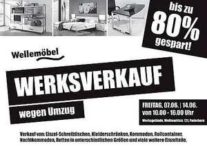 Paderborn: Werksverkauf bei Wellemöbel - Restposten bis zu 80% günstiger