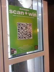 MC Donalds scan+win - Täglich QR-Code scannen und Sofortgewinne ohne MBW erhalten (vorerst nur in München, bald bundesweit)