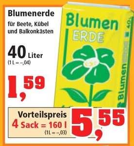 160 Liter Blumenerde für 5,55 Euro Bundesweit beim Thomas Philipps