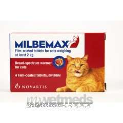 Milbemax Große Katze 4 Tabletten (Wurmkur)