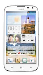 Huawei Ascend G610 Dual-SIM Smartphone 12.7 cm (5 Zoll) 1.2 GHz Quad Core 4 GB schwarz o. weiß inkl.Vsk für 102,26 € > [amazon.it] > Black Friday Deals