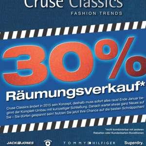 30% auf alles bei Cruse Classic in Neuss