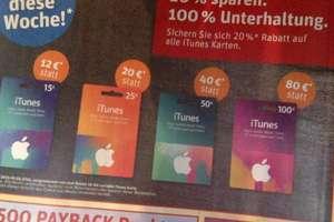 20 % auf alle iTunes Guthaben Karten bei Rewe