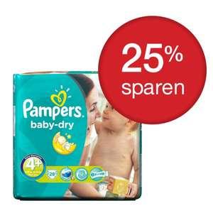 Pampers Baby Dry 3+ - 4 - 4+ ab  64Stk für 7,24€ bzw 11 bis 13 Cent pro Windel incl. Versand @PGShop
