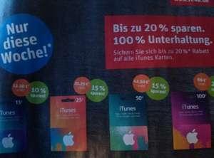 [Rewe] iTunes Karten 10% bis 20% Rabatt KW34 17.8. - 22.8.