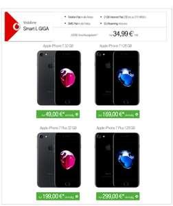 Vodafone Smart L Giga (2GB) + iPhone 7 (32GB-128GB) oder Iphone 7 Plus (32GB-128GB) oder Iphone 6s Plus (128GB)
