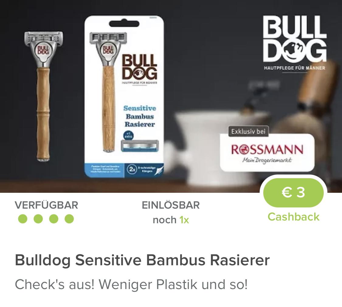 (Rossmann & Marktguru) Bulldog Sensitive Bambus Rasierer
