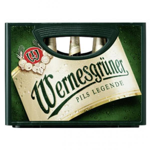 Wernesgrüner 10 Liter (20 x 0,5 Liter) für nur 8,00 EUR