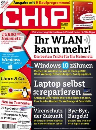 CHIP Premium Jahresabo (12 Ausgaben inkl. jeweils 3 DVDs) für 87,60€ mit 70€ Amazon-Gutschein