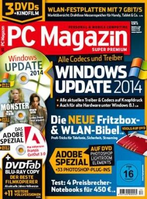 PC Magazin Premium XXL inkl. 3 DVDs/Ausgabe + Archiv-Zugang statt 105€ für 39,95 € durch 61% Rabatt