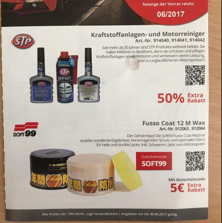 Soft99 Fusso für 18,99 € durch Code!