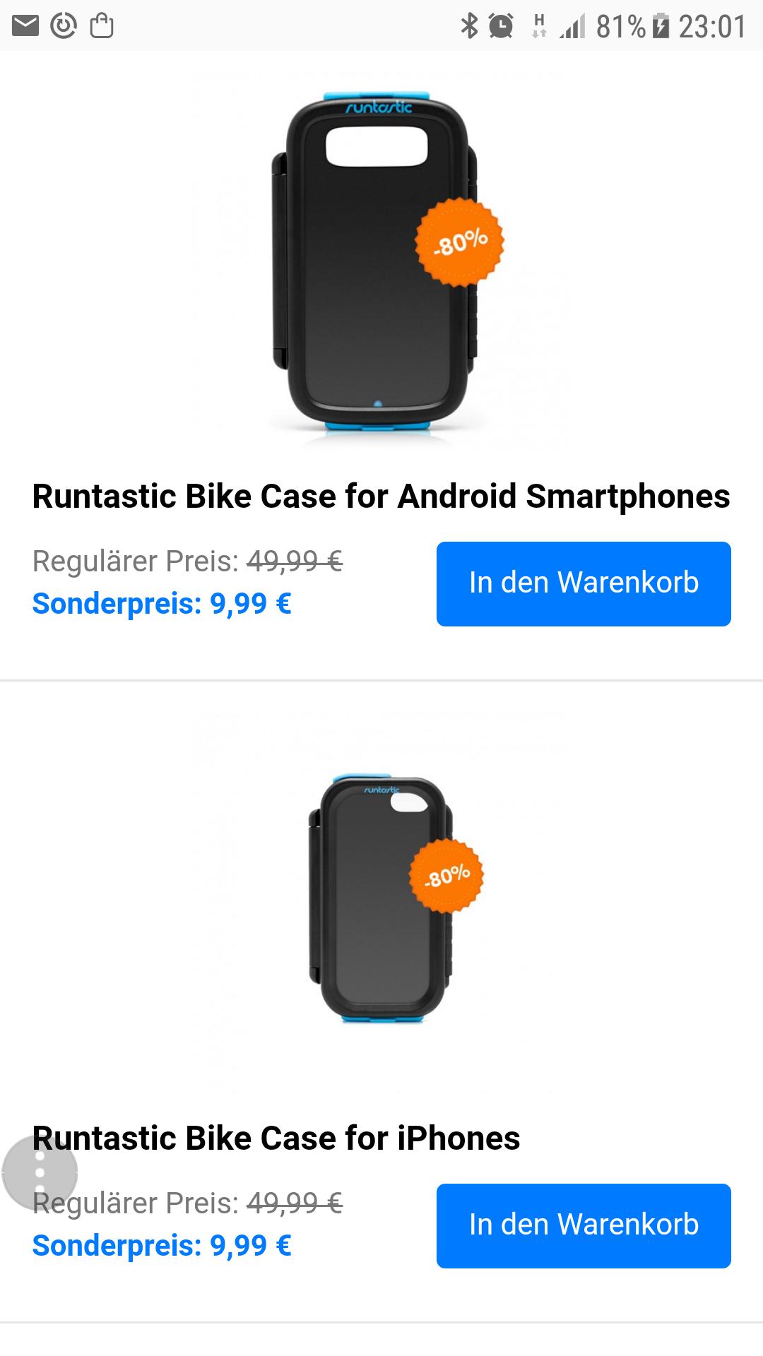 Sale beim Runtastic Shop Smartphone Case