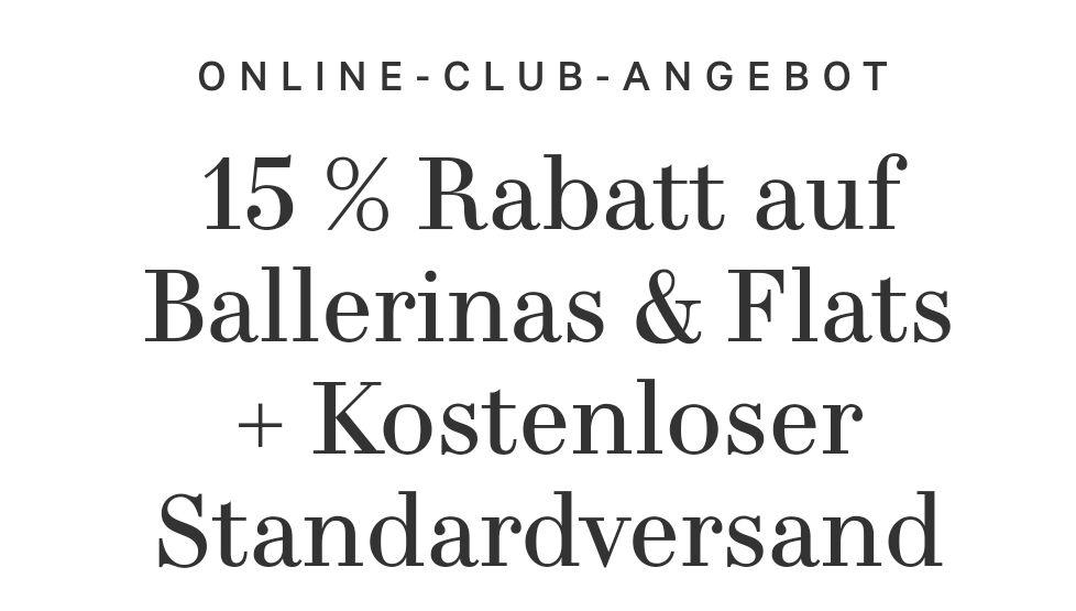 [H&M] kostenloser Standardversand + 15% auf Ballerinas & Flats