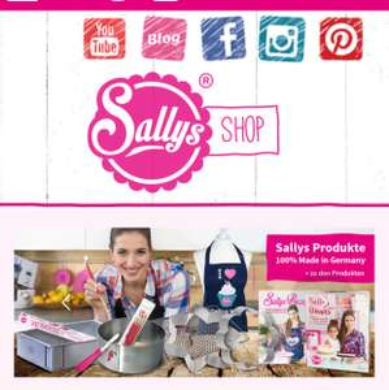 Sally's Shop Online 10% Rabatt Back & Koch Zubehör