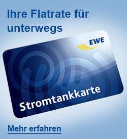 Stromflat für euer Elektroauto mit der EWE Ladekarte ab eff. 12,50€ / Monat