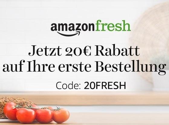 AmazonFresh 20€ Rabatt MBW 60€ & 10€ Rabatt MBW 30€