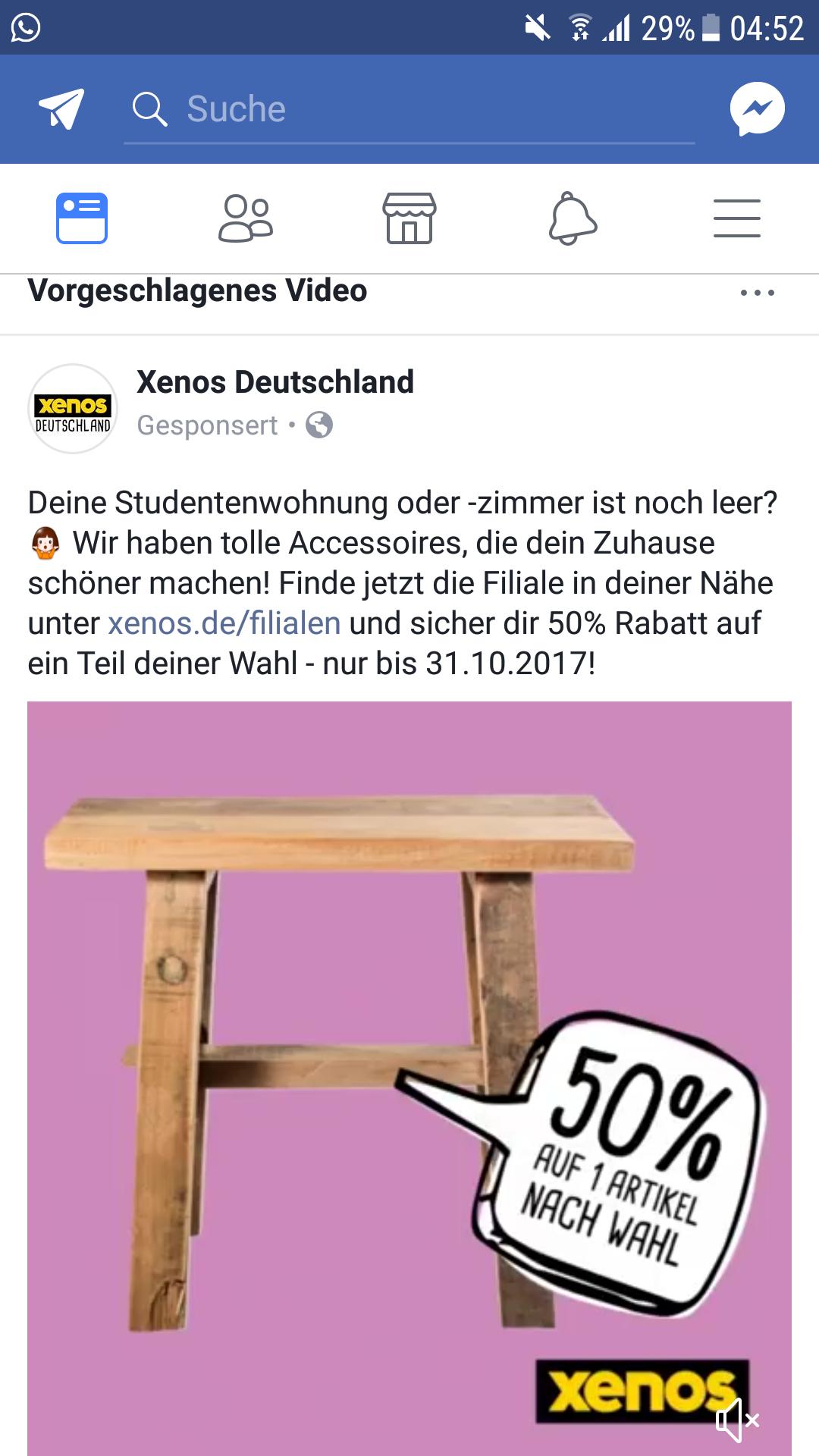 Xenos: 50% Rabatt für Studenten auf Artikel nach Wahl
