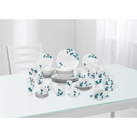 [@mömax] Kombiservice Amy, 62-teilig aus Porzellan für 6 Personen  (grun /blau) fur nur 23,95 statt 79,99 euro