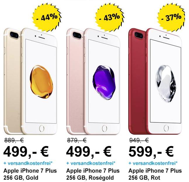 % Late Night Shopping % iPhone 7 PLUS 256GB ab 499€ (mit Kundenkarte noch + Google Home Mini)[versandkostenfrei]