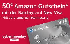 50€ Amazon Gutschein mit der Barclaycard New Visa