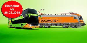 Gutscheine für Locomore-Zügen (via Flixbus) im Wert von 30€ zum Preis von nur 15€.