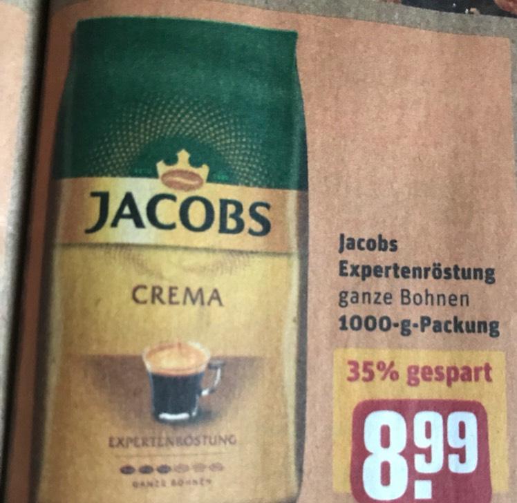 Jacobs Expertenröstung 1000g Kaffee Crema