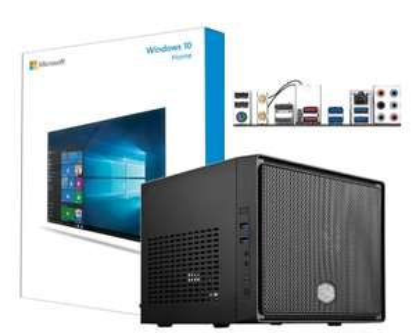 HTPC, AMD Ryyzen 5-2200G, LG BluRay Laufwerk, 120GB SSD, 8GB RAM, 300 Watt beQuiet, WIndows 10, Cyberlink PowerDVD 17 Ultra, Montage und Garantie [technik-store-24]