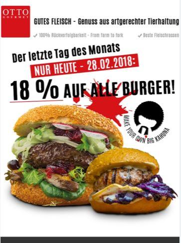 Otto Gourmet - 18% Auf Alle BURGER!
