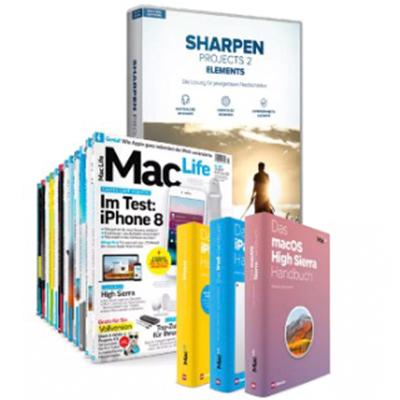 Zeitschrift MacLife als PDF (digital) im Jahresarchiv 2017 und Software SHARPEN Projects 2