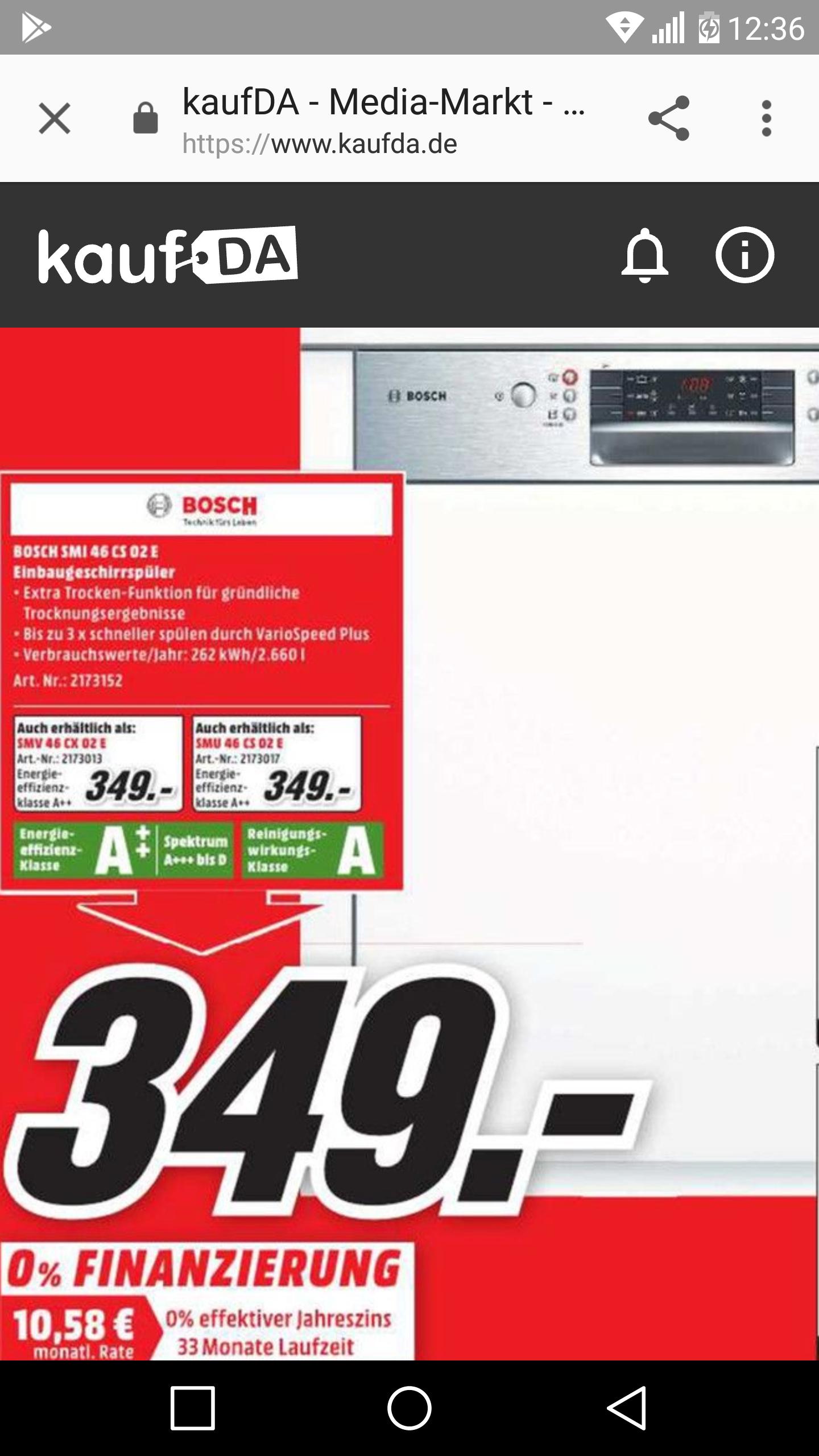 Geschirrspülmaschine Bosch SMI46CS02E beim MM Köln-Kalk