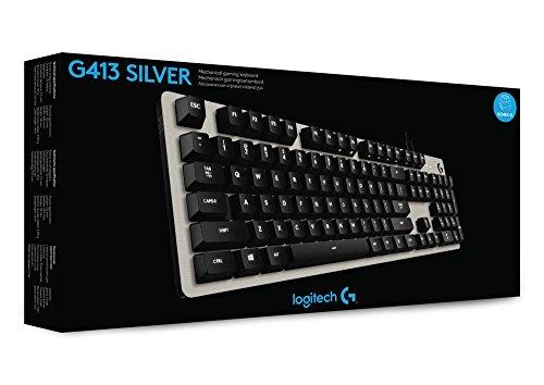 Logitech G413 Mechanische Gaming-Tastatur (silber)