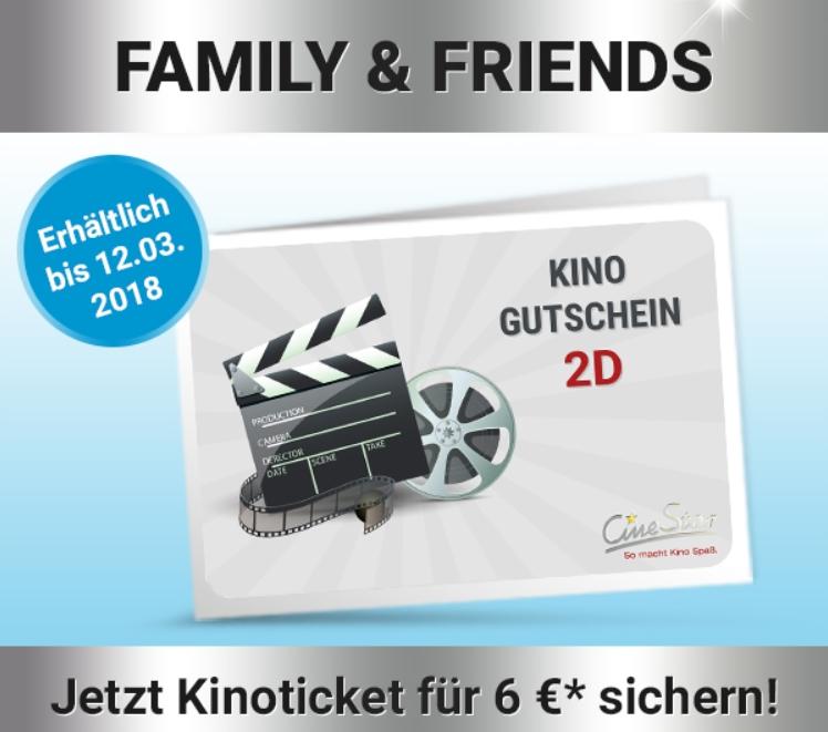 [Cinestar Card] Family & Friends Kinotickets