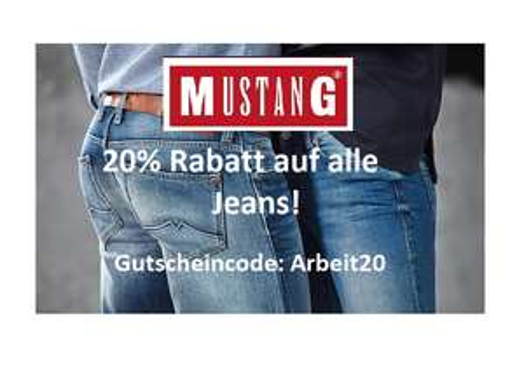 Heute im Mustang Online-Shop: 20% Rabatt auf alle Jeans!