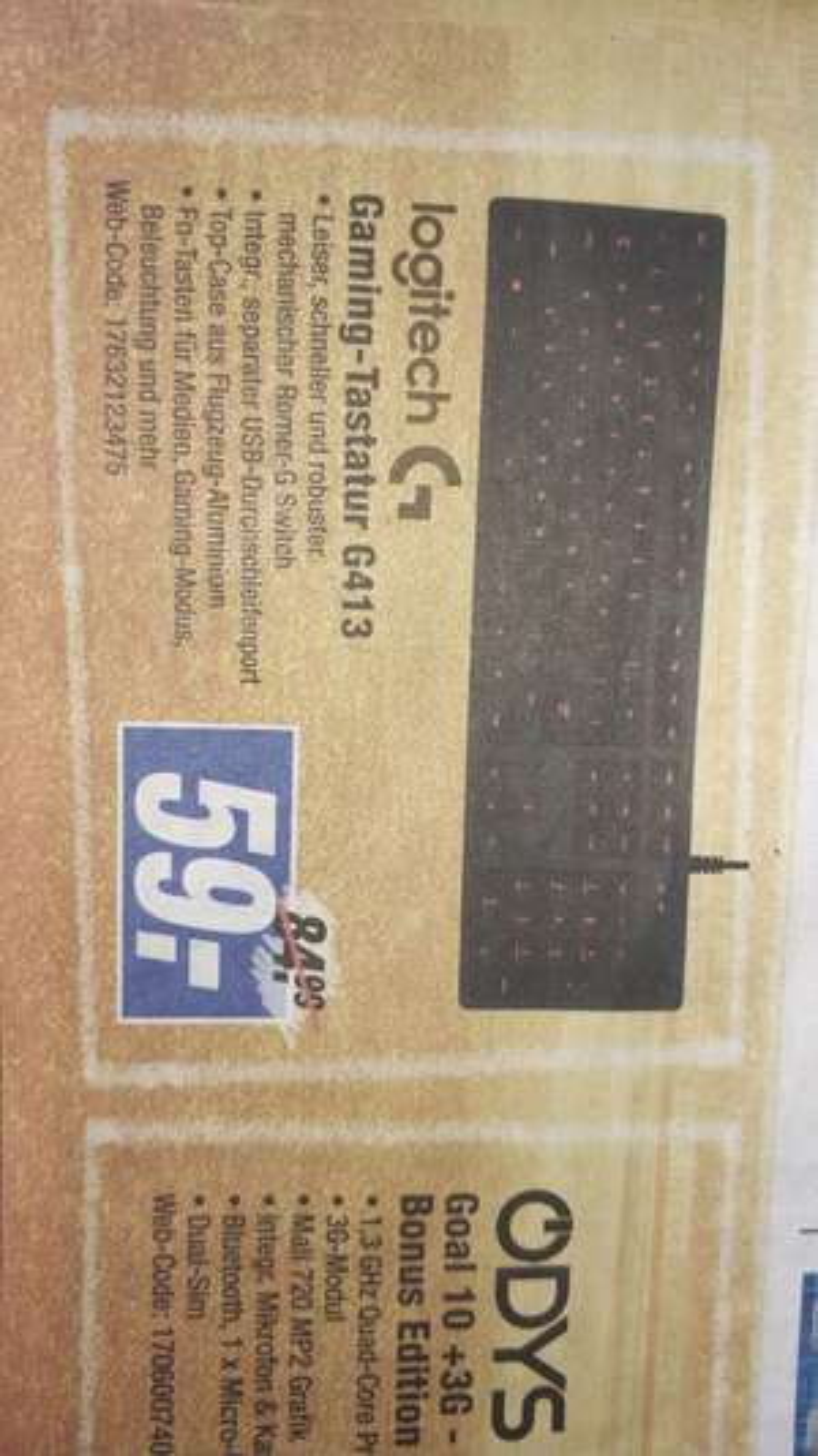 Expert Gröblinghoff [Offline/Online +3,95€ VSK] Logitech G413 Carbon Gaming Tastatur