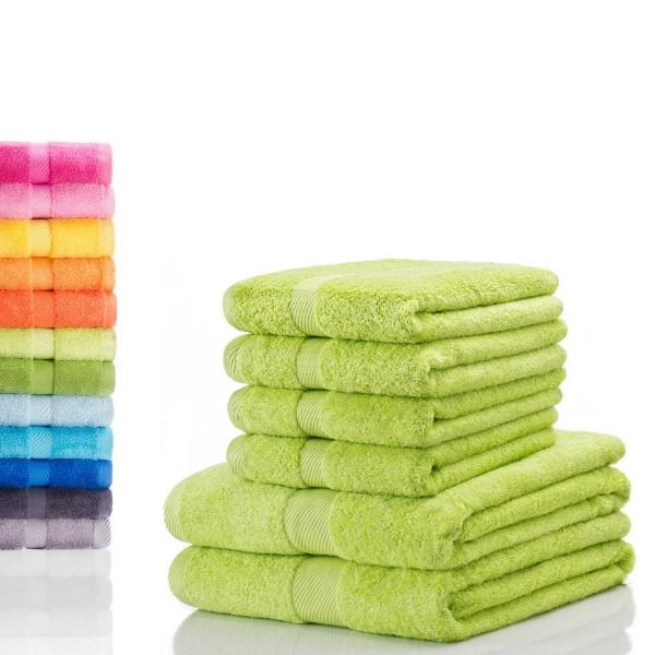 6.tlg Handtuch Set - 4x Handtücher + 2x Duschtücher, 100% Baumwolle für 24,95€