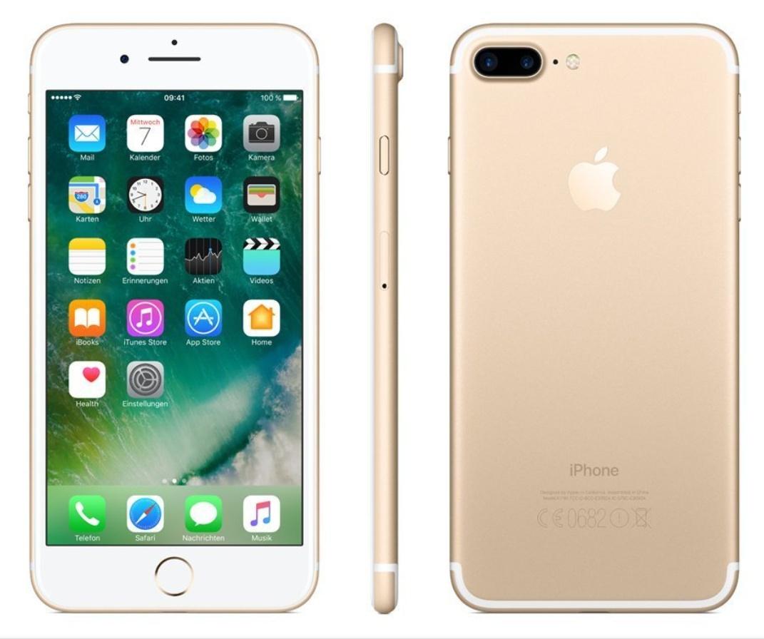 Apple iPhone 7 Plus Smartphone 14 cm (5,5 Zoll) 256GB, 3GB RAM gold - NEU