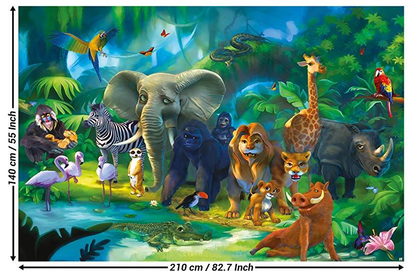 [Amazon] 210 x 140cm XXL Dschungel-Fototapete / 2 Stk. für 9,90€