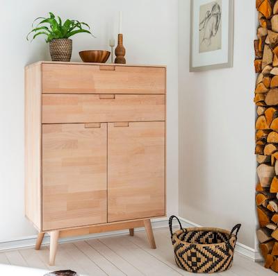 15% Rabatt auf (auch bereits reduzierte) Kommoden & Sideboards bei Fashion for Home, z.B. Highboard Finsby aus massiver Buche