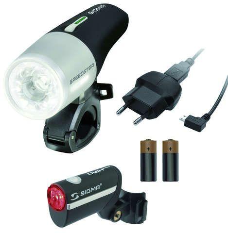 [Radonline] Sigma Speedster / Hiro Fahrrad-Beleuchtungs-Set, StVZO zugelassen