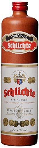 Schlichte Steinhäger Tonkrug (1 x 0.7 l) - traditioneller deutscher Wacholderschnaps für Gin-Interessierte [Amazon]